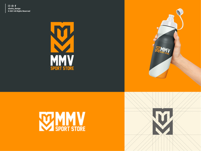 MVM SPORT STORE LOGO DESIGN design sports sport alesha design vector symbol logo inspirations initials typography excellent elegant apparel behance dribbble letters awesome pinterest lettermark