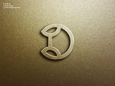 D Logo design initial logo brand alesha design silver gold metal strong leaf d initials logo lettermark letter initial lettering letters initials design inspirations logo awesome