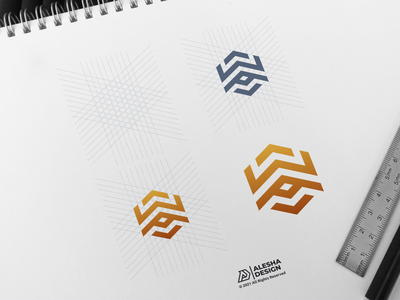 wa logo design behance dribbble awesome logo initial inspirations initials letter lettermark personal wordmark design letters modern person company creative branding alesha design line art
