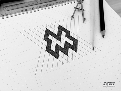 M LOGO DESIGN m initial awesome logo initial inspirations initials design letters lettering lettermark excellent alesha design alphabet logo type vector company symbol art sketch identity