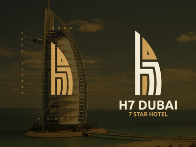 h7 Dubai Logo Design!!! dubai monogram learn process sketch profesional burj al arab hotel luxury alesha design vector branding illustration letters initials design inspirations initial logo awesome