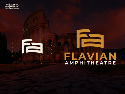 Flavian Amphitheater (Fa) Logo Design. alesha design colosseum sketch learn monogram luxury process vector letters initials inspirations initial awesome collesium design logo
