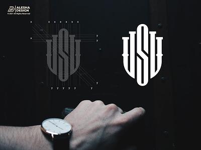USU Logo Design symbol modern marketing logotype idea icon creative corporation consulting company business brand alphabet wordmark letter initials alesha design design logo usu