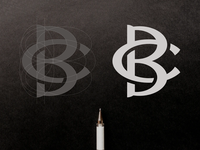 BC or CB Logo Design shape symbol company cb bc branding simple icon minimal brand mark monogram typography alesha design illustration letters initials inspirations design initial logo