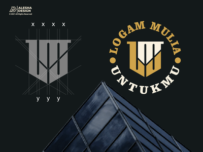 LMU Logo Design vector graphic design type monogram lmu mark word mark branding alesha design awesome letters initials inspirations initial logo