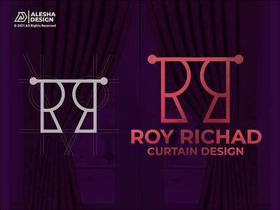 RR Logo Design rr ui monoline vector textile company line art elegant curtain shop surtain design curtains curtain brand branding letters initials inspirations design awesome logo