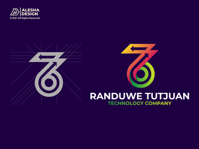 76 Logo Design technology tech number 6 7 76 symbol mark typography monogram icon alphabets arrow letters initials inspirations design initial awesome logo