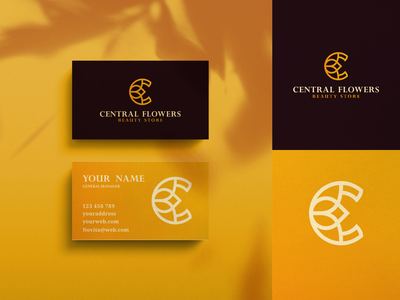 Central Flower Logo Design!!! rose c elegant icon gold beauty flower luxury letter illustration letters initials inspirations design initial awesome logo