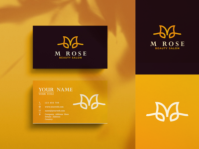 M Rose Logo Design!!! icon vector gold woman women salon beauty branding flowers flower rose m letters initials inspirations initial design awesome logo