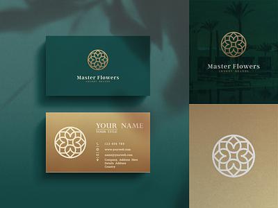 Master Flower Logo Design business company lineart line art gold elegant branding vector icon rose store brand identity inspirations design awesome logo design brand luxury flower master