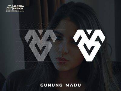 GUNUNG MADU Logo Concept graphic design mg gm wordmark symbol branding monogram typography icon agency grid grids apparel letters initial initials design inspirations awesome logo