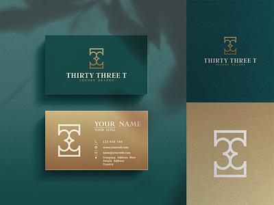 Thirty Three T Logo Design minimalist icon luxury hotel resort travel modern minimal unique simple apartment creative graphic design inspirations branding letters initials design logo