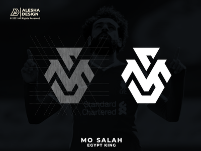 MS monogram Logo Design for Mo Salah :D epl vector symbol monogram typography icon agency grids soccer football liverpool mo salah apparel branding letters initials design inspirations awesome logo