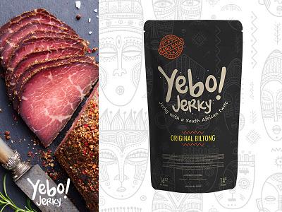 Yebo! Jerky african package packaging typography branding mark icons logo illustration print brand design