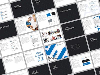 Brand Guide health style guide brand identity medical idenity logo icon typography branding print brand design