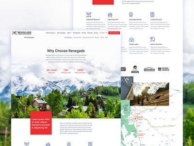 Why Page Design construction about company why typography home icons nav ui homepage web website design