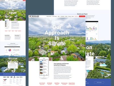 Our Approach Page company graphs stats dashboad app iphone typography ux home nav homepage web website ui design