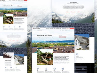 Service Page renovations mountains colorado icons page construction repair service home homepage web website ui design