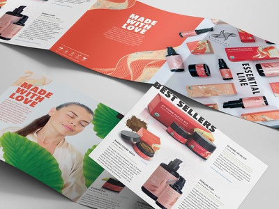 Cosmetic Brochure Catalog cosmetics catalog brochure mark logo typography branding icons illustration print brand design
