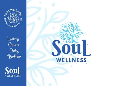 Soul Wellness Logo health logotype badge icons illustration brand icon typography vector logo branding design