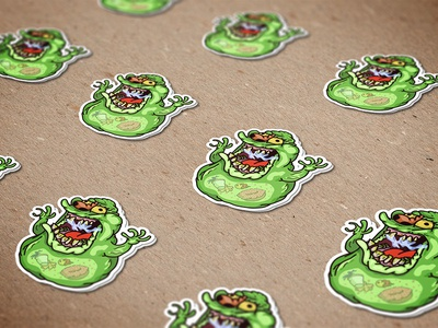 Zombie Slimer Stickers!