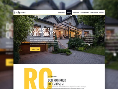 Elegant Architectural Design Homepage