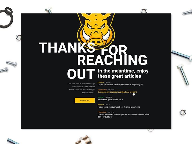 Confirmation Page branding layout simple confirm corporate design homepage home website web page