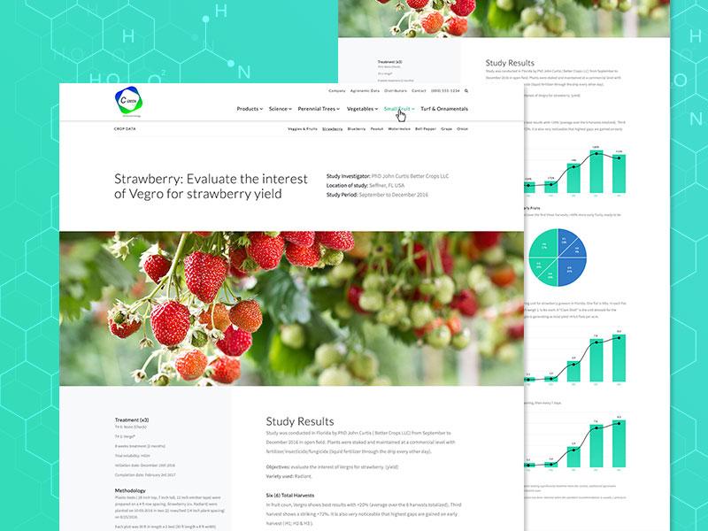 Bio Studies data layout infographics chart ui stats study design page webite web