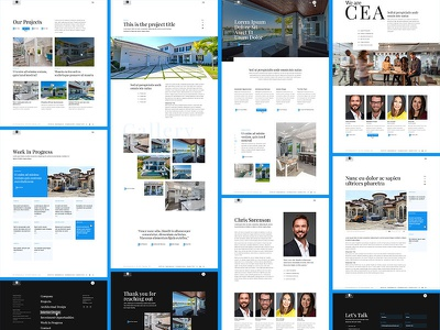 Architect Pages projects brand architecture homepage home design website web layout pages architect