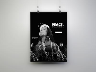 "PEACE- ""Serene"" Poster Concept poster design poster art poster typography logo vector ui illustration illustrator design branding"