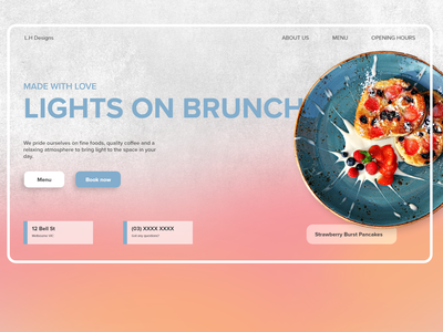 Simple Light Brunch Landing Page Website Design branding website flat web ux ui minimal graphic design dailyui design