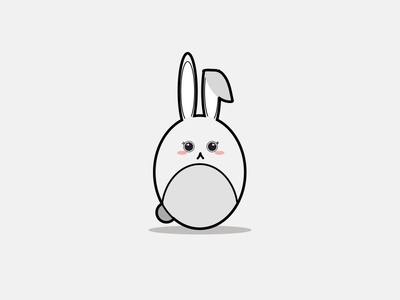 Cute Kawaii Illustration Bunny Rabbit symbol food art doodle fun collection happy icon character isolated face funny smile design set vector cartoon illustration cute kawaii
