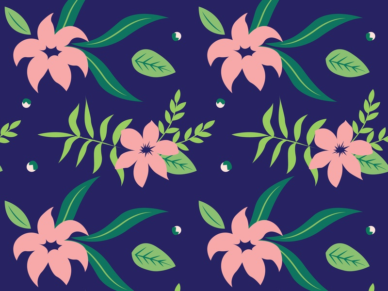 Flower Seamless Pattern website seamless pattern minimal illustration icon flower floral flat design vector art