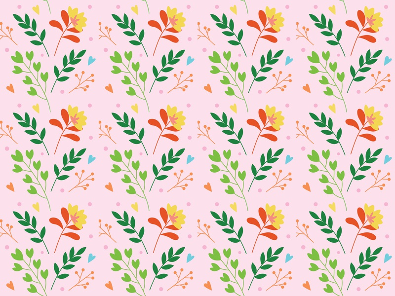 Flower Seamless Pattern website vector seamless pattern minimal illustration icon flower floral flat design art