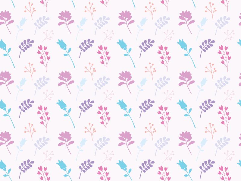 Flower Seamless Pattern website vector seamless pattern minimal illustration icon flower floral flat design art
