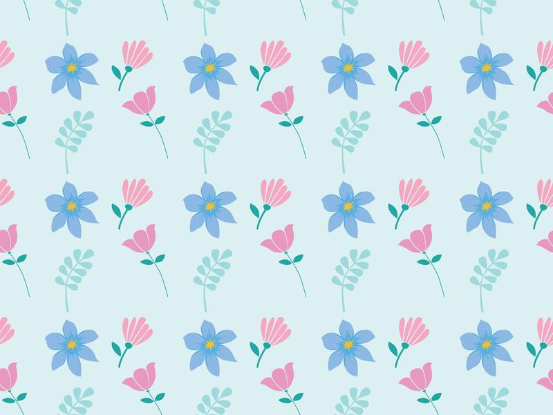 Flower Seamless Pattern wallpaper design wallpaper fashion design fashion website vector seamless pattern minimal illustration icon flower floral flat design art