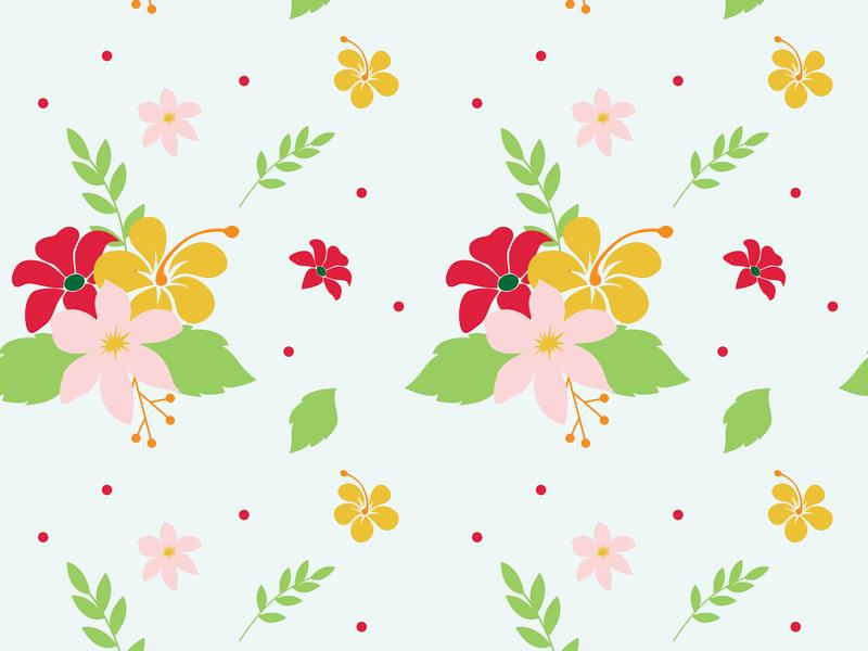 Flower Seamless Pattern vintage retro wallpaper design wallpaper fashion design fashion website vector seamless pattern icon flower floral flat minimal illustration design art
