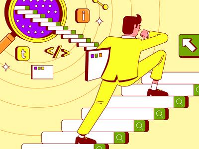 SEO Illustration search engine editorial illustration seo