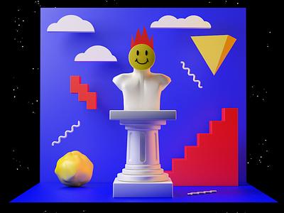 3D fun illustration stilllife cinema4d 3d