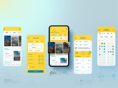 Airline Booking App Concept booking airline app ux ui