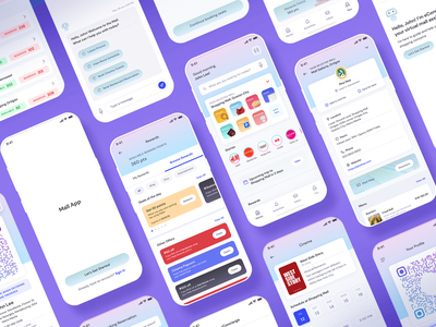 Mall App Concept shopping booking ux ui mall