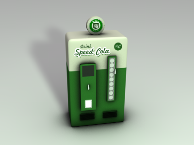 Speed Cola Machine soda machine 3d