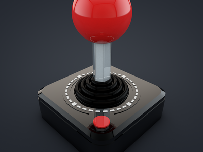 Joystick joystick game cinema 4d 3d