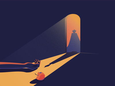 A dark tale of snow white vector murder arch shadow light random snowwhite tale illustration