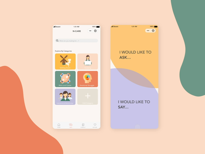N-Care healthcare inclusive design app wechat miniprogram mental health awareness mentalhealth design adobe xd ui animation illustration