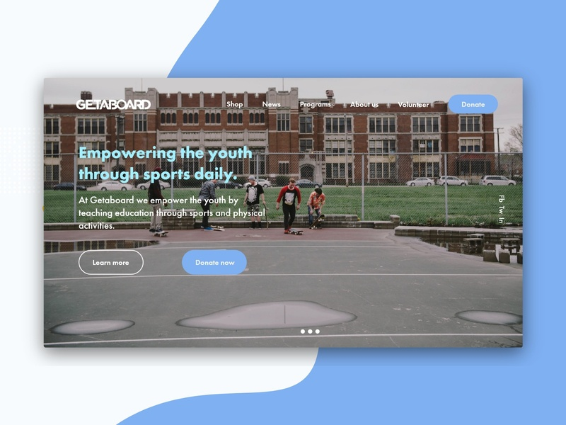 Geataboard Landing page Redesign