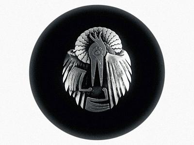 Le Héron Noir 黒 鷺 - Tsuba animation after effects eevee ronin samurai japan motion graphic motion design motion graphics emblem mechanical heron loop blackandwhite motion logo animation black blender3d blender 3d