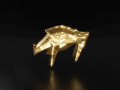 Cervoiz - The golden boar identitydesign identity branding design brand identity brand design branding brand 3d artist 3d animation loop gold sculpt boar bear design black animation blender3d blender 3d