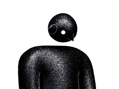 BONOM grainy grain motion graphics character design character animation characterdesign character motion graphic motiongraphics motion design motion stopmotion black and white blackandwhite illustration animation black blender3d blender 3d