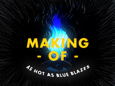 Campfire animation - MAKING OF gif loop blue black blender3d blender 3d 3d animation 2d animation motion graphics motion graphic motiongraphics motion design motion making of makingof campfire fire